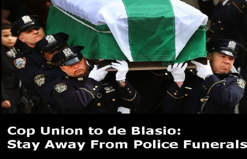 Bill de Blasio NYPD to de Blasio