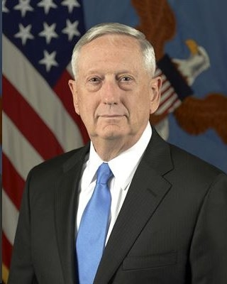 Secretary of Defense James Mattis. It's hoped he will get rid of the politically-correct military field manuals, training curricula and other nonsense that did little to win against the Islamic terrorists.