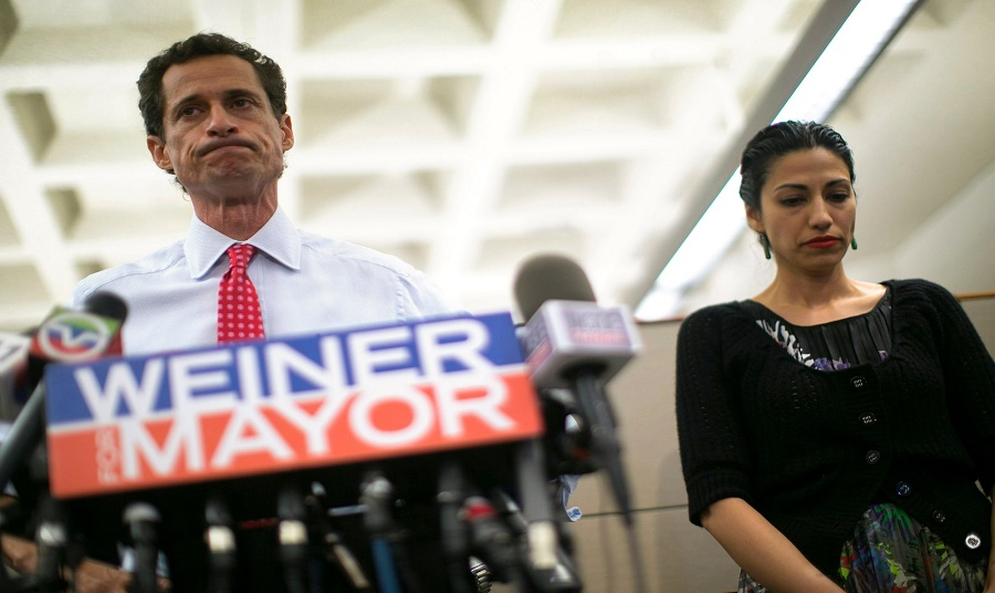Huma and Andrew Weiner