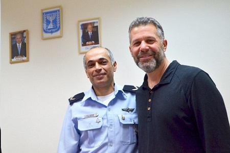 Israel National Police Brig. Gen. Coresh Barnoor and FBI Legal Attaché Cary Gleicher, seen here at Barnoor's office in Tel Aviv, believe that strong partnerships are key to building cases.
