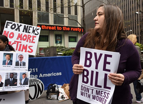 Soros' stooges? It is being said that this anti-Bill O'Reilly demonstration was funded by George Soros using women to bring down men such as Clarence Thomas, Donald Trump and Bill O'Reilly.