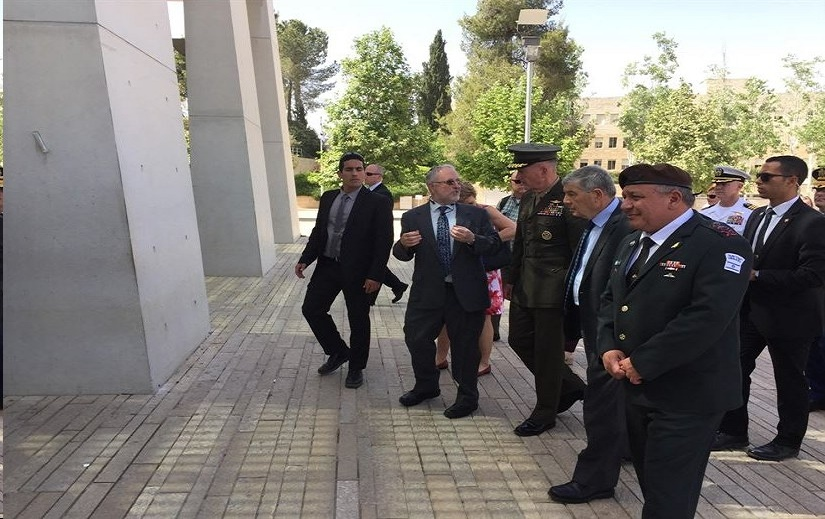 Marine Corps Gen. Joe Dunford, chairman of the Joint Chiefs of Staff, enters Yad Vashem Holocaust Museum in Jerusalem, May 9, 2017. Dunford is visiting with his Israeli counterpart, Israeli army Lt. Gen. Gadi Eisenkot, the chief of the General Staff for the Israel Defense Forces. DoD photo by Jim Garamone