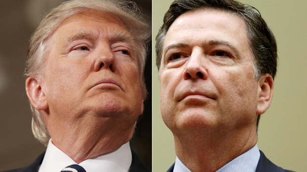 Comey and Trump