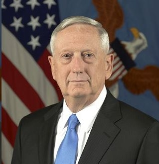 Jim Mattis became the 26th Secretary of Defense on January 20, 2017. A native of Richland, Washington, Secretary Mattis enlisted in the U.S. Marine Corps Reserve at the age of 18. After graduating from Central Washington University in 1971, he was commissioned a second lieutenant in the U.S. Marine Corps. During his more than four decades in uniform, Secretary Mattis commanded Marines at all levels, from an infantry rifle platoon to a Marine Expeditionary Force. He led an infantry battalion in Iraq in 1991, an expeditionary brigade in Afghanistan after the 9/11 terror attack in 2001, a Marine Division in the initial attack and subsequent stability operations in Iraq in 2003, and led all U.S. Marine Forces in the Middle East as Commander, I Marine Expeditionary Force and U.S. Marine Forces Central Command. During his non-combat assignments, Secretary Mattis served as Senior Military Assistant to the Deputy Secretary of Defense; as Director, Marine Corps Manpower Plans & Policy; as Commanding General, Marine Corps Combat Development Command; and as Executive Secretary to the Secretary of Defense.  As a joint force commander, Secretary Mattis commanded U.S. Joint Forces Command, NATO's Supreme Allied Command for Transformation, and U.S. Central Command. At U.S. Central Command, he directed military operations of more than 200,000 soldiers, sailors, airmen, Coast Guardsmen, Marines and allied forces across the Middle East.  Following his retirement from the U.S. Marine Corps in 2013, Secretary Mattis served as the Davies Family Distinguished Visiting Fellow at the Hoover Institution at Stanford University, specializing in the study of leadership, national security, strategy, innovation, and the effective use of military force. In 2016, he co-edited the book, Warriors & Citizens: American Views of Our Military.
