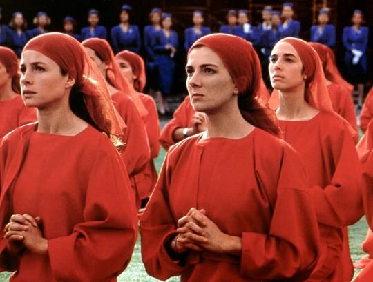 """A scene from the disturbing Hulu television series, """"The Handmaid's Tale."""""""
