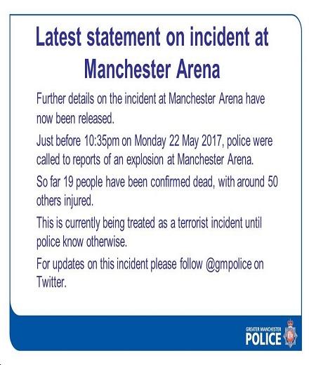 Manchester police statement