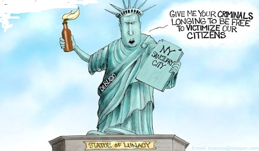Despite illegal aliens committing crimes in his city, New York's Mayor de Blasio is proud of his sanctuary policy.
