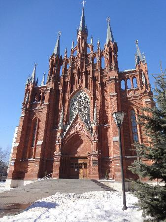 Russia's largest Catholic Church  in that country: The Cathedral of the Immaculate Conception in Moscow.