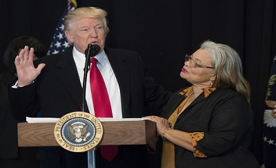 One of President Trump's biggest supporters and prayer warriors is the niece of Dr. Martin Luther King, Jr., Dr. Alveda King.