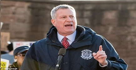 Mayor de Blasio is not very popular with most New York cops for a number of reasons stemming from his devotion to Marxist principles.