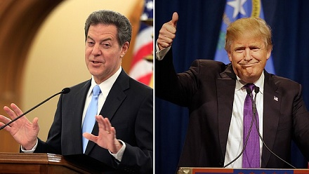 Sam Brownback (left) is President Trump's latest appointment.